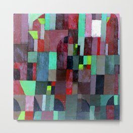Paul Klee Red Green Architecture Metal Print