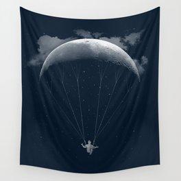 Parachute Moon Wall Tapestry