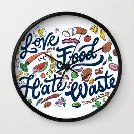 Love Food, Hate Waste Wall Clock