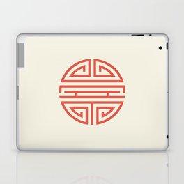 Shou Longevity In Red And Chamois Laptop & iPad Skin