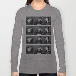 Monochrome Magnificence: Bowie Long Sleeve T-shirt