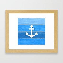 Nautical themed design Framed Art Print