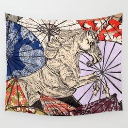 Unicorn Amongst Umbrellas XVII Wall Tapestry