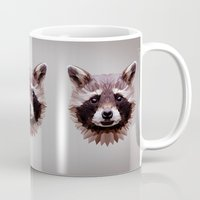 raccoon Mugs featuring Raccoon by Roxy Color