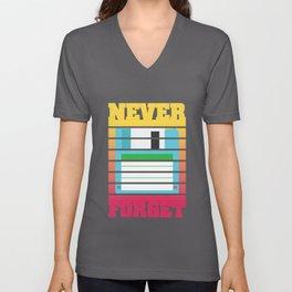 Never Forget Floppy Disk I Funny Computer Nerds Geeks  product Unisex V-Neck
