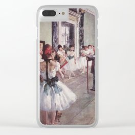 The Ballet Class- Edgar Degas Clear iPhone Case