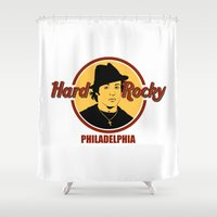 philadelphia Shower Curtains featuring Rocky - Philadelphia by Buby87