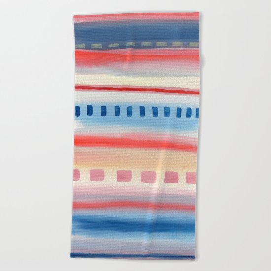 Watercolor Pastel V. G. 01 Beach Towel