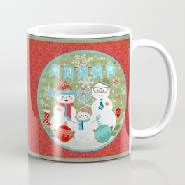 Winter Snowmen Family Holiday Christmas Art Coffee Mug