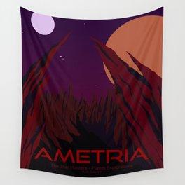 Planet Exploration: Ametria Wall Tapestry