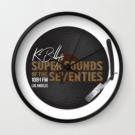 K - Billy´s Super Sounds of the Seventies Wall Clock