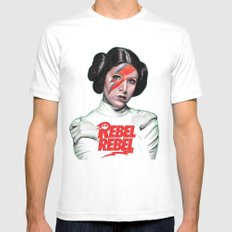 REBEL REBEL LEIA White MEDIUM Mens Fitted Tee