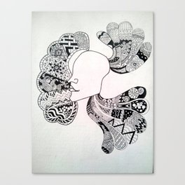 thought in a head Canvas Print