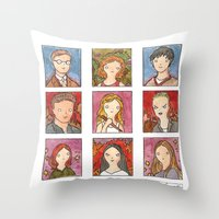 buffy Throw Pillows featuring Buffy by Steven Learmonth