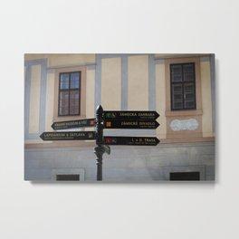 Czech Street Sign Metal Print