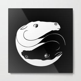 Horse Ying Yang Metal Print