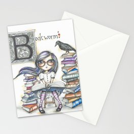 Bookworm Stationery Cards