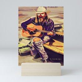 Guitar Man - Graphic 2 Mini Art Print