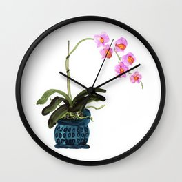 Orchid - alcohol ink Wall Clock
