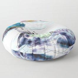 The Otter's Tea Floor Pillow