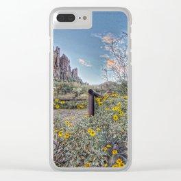 Peralta Trail Head Clear iPhone Case