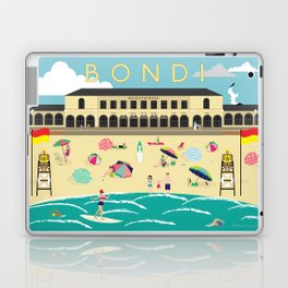 Bondi Beach Vintage Style Art Print Laptop & iPad Skin