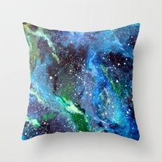 Galaxy (blue/green) Throw Pillow