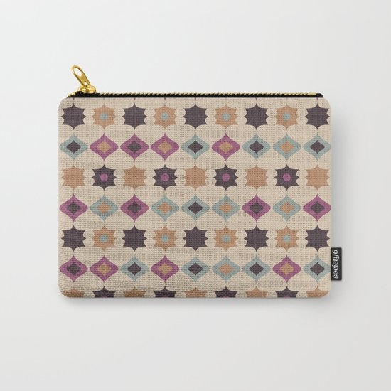 Retro pattern . Pastel . Carry-All Pouch