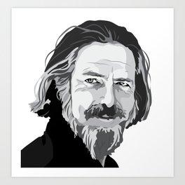 Alan Watts Art Print