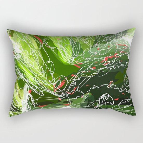 green explosion Rectangular Pillow