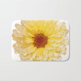 Beautiful Yellow Marigold Vector Isolated Bath Mat
