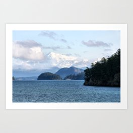 From the Mountains to the Sea Art Print