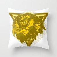 hawk Throw Pillows featuring Hawk by Joe Baron
