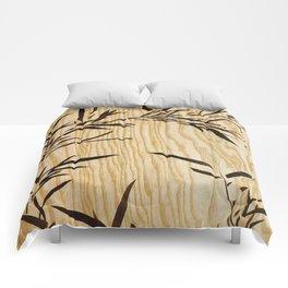Japanese bamboo buddha wood art Comforters