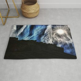 Ice Fire In The City Rug