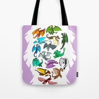 dragons Tote Bags featuring Dragons by prpldragon