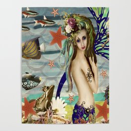 Katie the Mermaid Poster