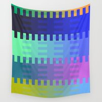 fabric Wall Tapestries featuring Blocky Fabric by writingoverashes