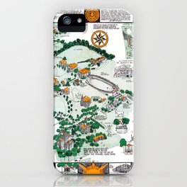 SYRACUSE campus map NEW YORK dorm decor graduate iPhone Case