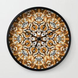 Early Winter Mandala Wall Clock