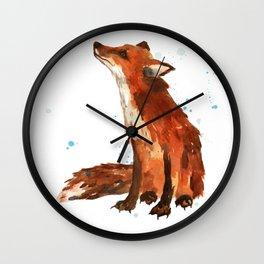 Mindful Fox Wall Clock