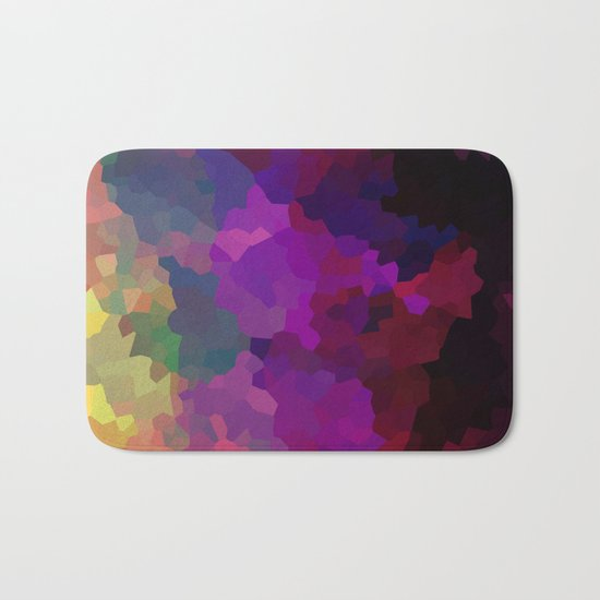 Multicolored abstract pattern . A firework of colors . Bath Mat