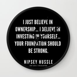 2 | Nipsey Hussle Quotes Wall Clock