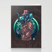 ganesh Stationery Cards featuring Ganesh by Renato Guerra