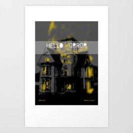 HelloHorror Issue 3 Cover - Haunted House Art Print