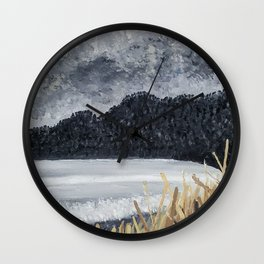Stormy Beach Wall Clock
