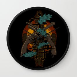 Leaves on the Wind Wall Clock