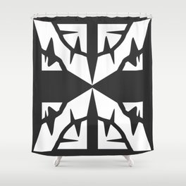 X Dark Shower Curtain