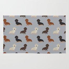 Doxie dachshund dachsie pattern print dog lover dog breed custom dog art by pet friendly Rug