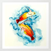 Fire Goby Art Print